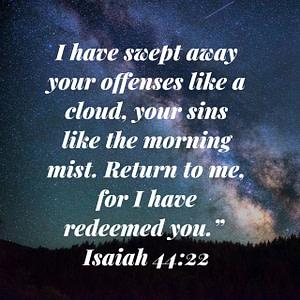 Isaiah 44:22 Bible Verse Image