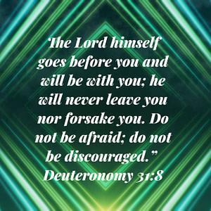 Deuteronomy 31:8 Bible verse Image
