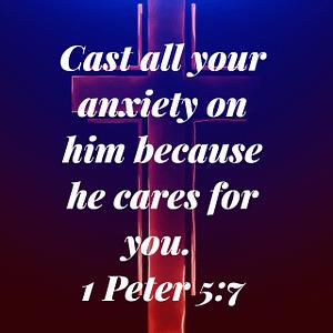 1 Peter 5:7 Bible Verse Image